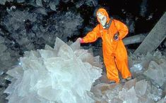 """Cave of Crystals """"Giant Crystal Cave"""" at Naica, Mexico 