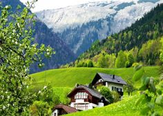 Resultado de imagem para houses on mountains