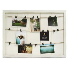 Marrone 18-Photo Fashion Collage Clipboard Frame