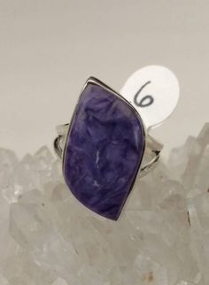 Charoite Ring, Size 6 by KarinsForgottenTreas on Etsy