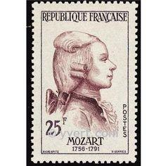 Mozart -  Timbre France Poste