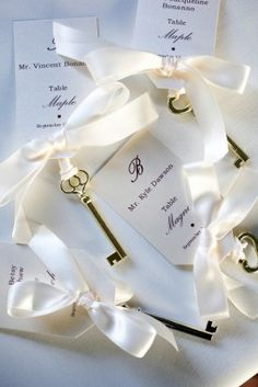 Key Wedding Place Cards