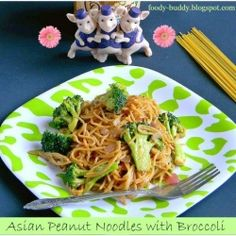 Asian Peanut Noodles with Broccoli recipe made this tonight...delish!!
