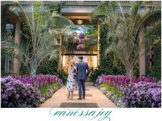 Longwood Gardens Engagement Photos by Luxury wedding photographer, Vanessa Joy. Gabrielle and Jeff get ready to tie the knot in this fashionable and chic session!