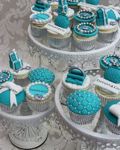 From my wife 40th Birthday Tiffany and co cupcakes | Flickr - Photo Sharing!