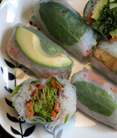 Almost Skinny Vegan Food: Vegan MoFo 14- Eating for the Seasons- Fresh Spring Rolls