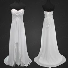 plus size beach wedding dress   ... Bridal Bride Beach Long Wedding Dress Bridesmaid Gown Party Plus Size