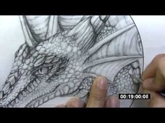 ▶ Leathercraft - dragon tooling (part 1) - transferring image - YouTube
