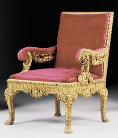 GII giltwood open armchair (reduced in height, width and depth ex Mrs. David Garrick; 40K gbp (Christie's London 28 November 2002)