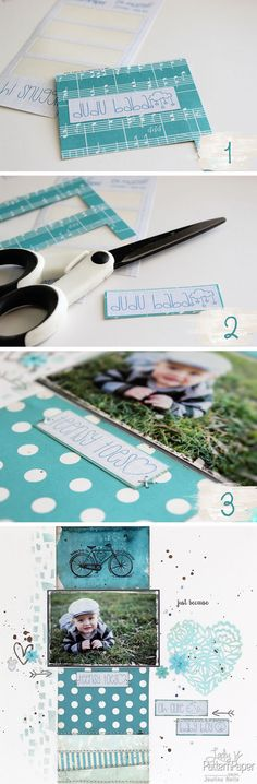 Dressing up your stickers. #LadyPatternPaper #OhMyWordStickers #Scrapbooking #StepByStep