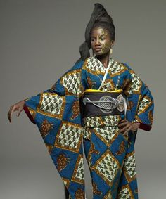Ankara Kimono (East meets West - African & Japanese fashion fusion)