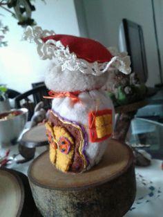 Casetta fungo in panno - by Luisa Valent