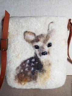 Купить Сумка валяная Бемби - абстрактный, сумки валяные, валяные сумки, сумки из шерсти