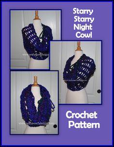 Posh Pooch Designs Dog Clothes: Starry Starry Night Cowl Crochet Pattern | Posh Pooch Designs