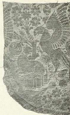 Italian silk design 12th century __ posted on flickr by John Hopper, for The Textile Blog