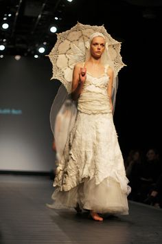 Wedding dress by Judith Bech * Oslo Fashion Week, Norway 2012. Photographer unknown.