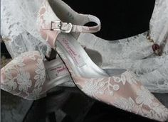 Feminine wedding shoes.