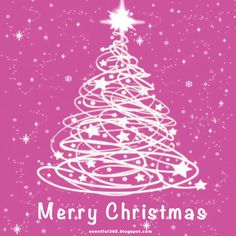 Animated Pink Color Wish Merry Christmas Greeting Glitter Graphic