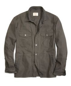 Canvas Outdoor Shirt Jacket - Brooks Brothers