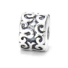 """Moress Curly Swirly """"Freedom"""" Clip Lock Stopper Bead - Clam Shell Snap Solid Sterling Silver - Fits Perfectly on Chamilia Moress Pandora and All Compatible Brand 3mm Chain Bracelet or Necklace Moress Freedom Clip Lock Beads,http://www.amazon.com/dp/B0064VKFXG/ref=cm_sw_r_pi_dp_jsvIsb06PHB3FRHM"""