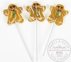 Gingerbread Man Lollipop | LolliPops and Candies | Lollies Rock Candy Swizzle Sticks | The Little Big Companyparty, glass bottles, swizzle sticks, beverage dispenser, birthday, gift, rock candy