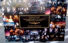 """Thank you Jack Morrissey for sharing this on your facebook page. You are right that it will be greatly enjoyed by every Twilight fan.  """"The Cimarron Group produced for Summit Marketing all the posters, banners, standees, trailers, TV spots and DVD"""