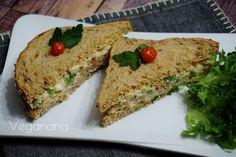 Sanduíche de Grão de Bico - Veganana