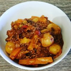 One of my favourite slow cooker recipes, this delicious Lamb Tagine is simple to prepare and makes 1 lb of mince go a long way. A delicious, healthy recipe.