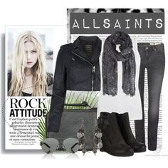 allsaints rocker, created by stacy-gustin on Polyvore