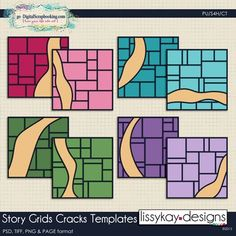 Story Grids Cracks by LissyKay Designs