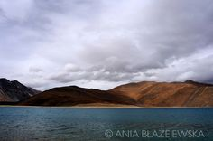 Ladakh, Pangong Tso - one of the giant himalayan lakes situated at the altitude…