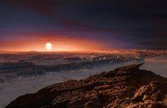 Ilustración del nuevo planeta orbitando alrededor de su estrella Proxima…