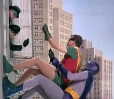 Batman and Robin - Bat Climb - Batman 1966 meeting Green Hornet and Kato!