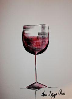 """Wine glass Art by Ana Inigo Olea """"Red Wine"""", 31-12-2012 https://www.artslant.com/ew/works/show/649435 #cGreys #cRed"""