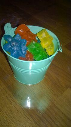 Bucketful of dino soaps!