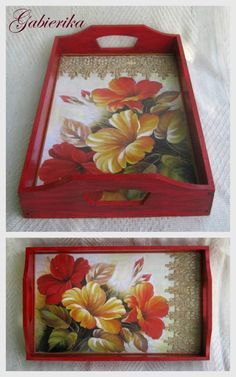 32 Best Wooden Home Accessories Diy İdeas Easy Crafts, Diy And Crafts, Arts And Crafts, Painted Trays, Hand Painted, Decoupage Art, Tray Decor, Diy Art, Painting On Wood