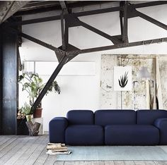 Textile Dotty Midnight On Soft Blocks sofa by Peter Skogstad for Muuto