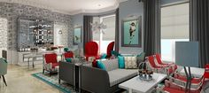ladies boutique interiors | The Ampersand Boutique Hotel Victorian Living Room, Modern Victorian, Living Room Turquoise, Living Room Grey, Living Rooms, Living Area, Tour Eiffel, Ampersand Hotel, Qui Est Paul