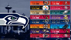 Seahawks Schedule 2020.16 Best Nfl 2019 2020 Images Nfl Sports Nfl Football
