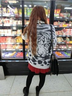 Tiger Print Fluffy jumpers, fashion white black animal Print Fluffy pullover sweater,  loose mink hair sweater #Tiger #Print #Fluffy #jumpers www.loveitsomuch.com