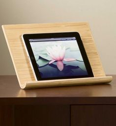Handmade Bamboo iPad® Stand: Perfect for tech AND nature lovers, this beautiful piece is created by fair trade artisans in Vietnam from sustainable bamboo