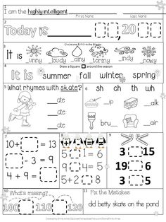 Worksheets Daily Morning Work 1st Grade august first grade morning work freebie fun to learn pinterest january digraphs addition subtractions math signs skip counting