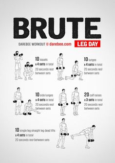 Kettlebell ExerciseWhat is Kettlebell Exercise? The kettlebell is not a new thing and it has been around for quite some time. Fitness Workouts, Leg Day Workouts, Gym Workout Tips, Weight Training Workouts, Dumbbell Workout, At Home Workouts, Leg Exercises, Lower Body Workouts, Workouts Hiit