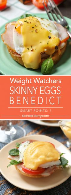 Weight Watchers Skinny Eggs Benedict Recipe – 7 Smart Points Source by melissawible Plats Weight Watchers, Weight Watchers Breakfast, Weight Watchers Meals, Skinny Recipes, Ww Recipes, Healthy Recipes, Fixate Recipes, Skinny Meals, Slimming Recipes