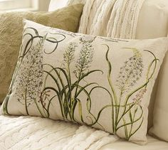 I'll need some vintage-y botanical pillows for the garden house