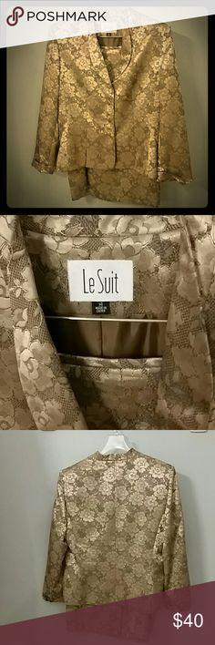 Le Suit Two-piece Suit Festive two-piece suit. Includes blazer and skirt. Le Suit Jackets & Coats Blazers