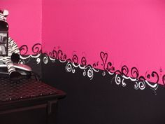 two tone pink bedroom walls - Google Search