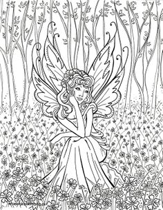 Detailed Coloring Pages for Adults | This fairy colouring page was created for Whimsical Publishing by our ...