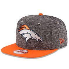 Men s New Era Heathered Gray Orange Denver Broncos 2016 NFL Draft Original  Fit 9FIFTY Snapback 7dd37828c916