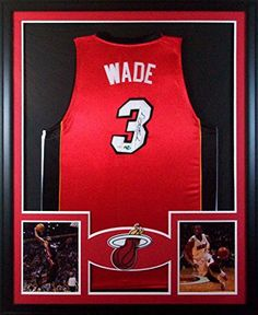 81c57383a Dwyane Wade Framed Jersey Signed JSA COA Autographed Miami Heat Marquette  Mister Mancave http